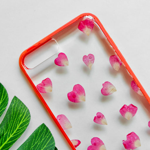 pressed red rose flower cute protective floral iphone 7 8 plus bumper case aesthetic timeless love floral neverland floralfy