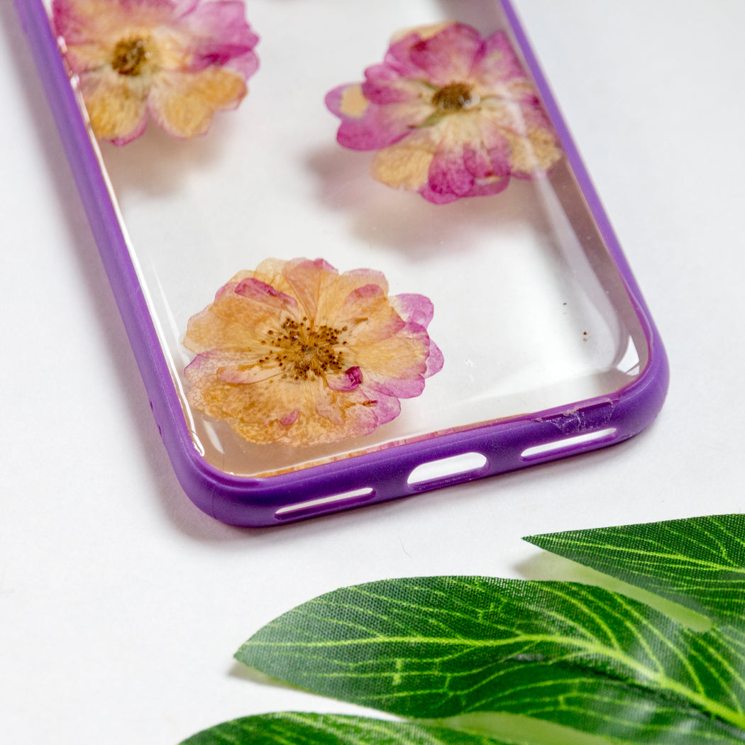 Purple Rose | Pressed Flower iPhone Bumper Case | iPhone 7/8