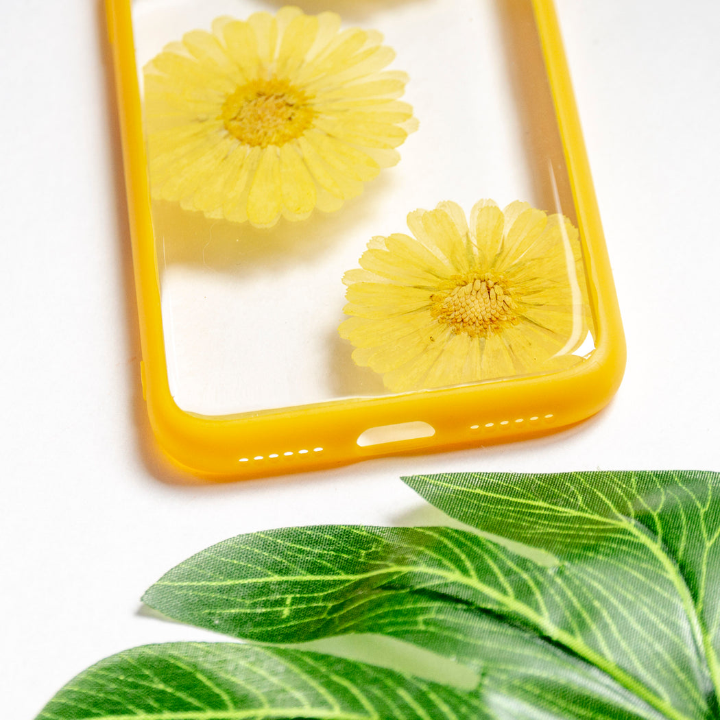 Sunny | Pressed Flower iPhone Bumper Case | iPhone X