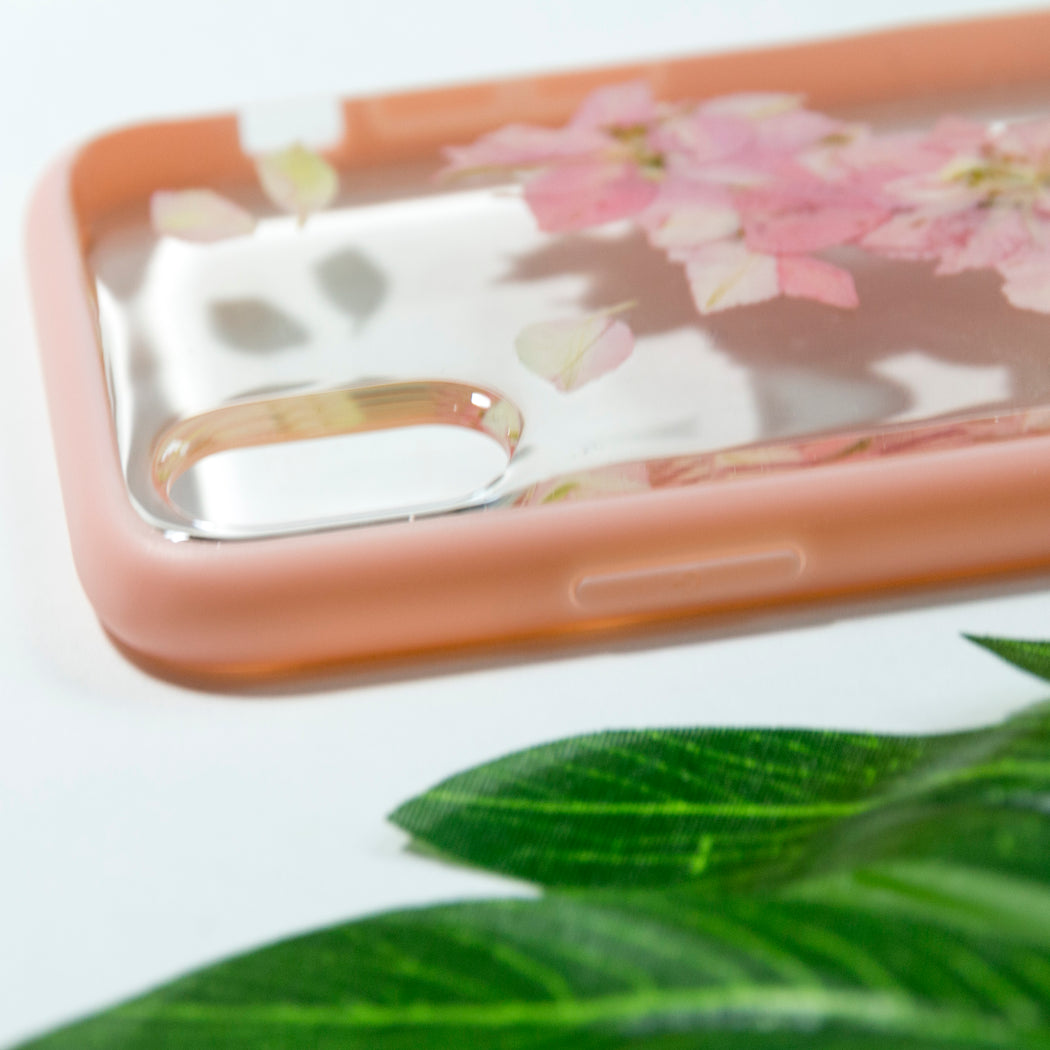 Tickled Pink | Pressed Flower iPhone Bumper Case | iPhone X