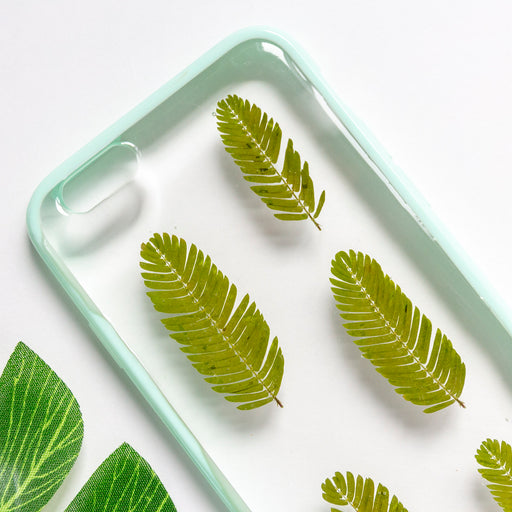 pressed flower green fern leaf cute protective floral iphone 6 6s bumper case floral neverland floralfy