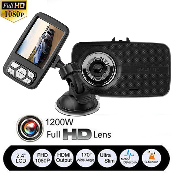 "2.4"" FHD 1080P Car DVR V18 Ultra Thin Car Digital Video Recorder,  DashCam."