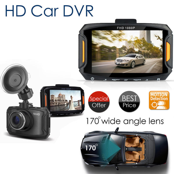 Car DVR 3' LCD HD 1080P Dash Cam Recorder, HDMI, G-Sensor.