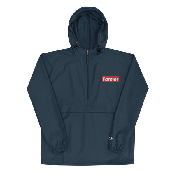 Limited 'Farmer' Collection Red Box Logo Embroidered Champion Packable Jacket