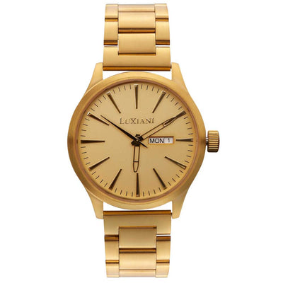 Saturday - gold wristwatch
