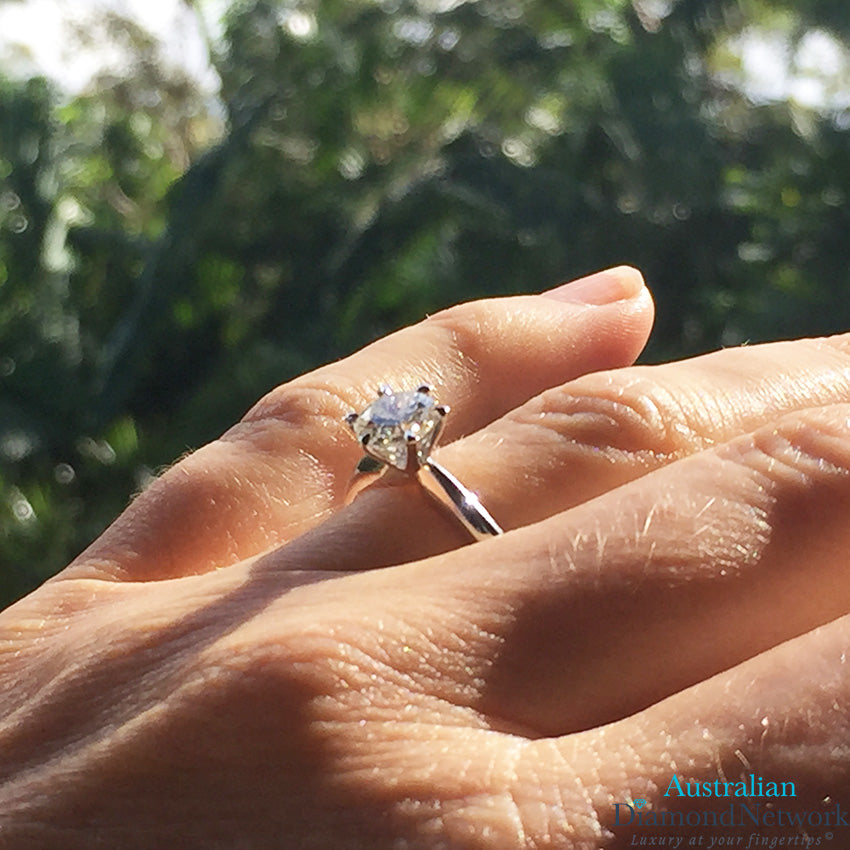 1 00ct Solitaire Lab Grown Diamond Engagement Ring