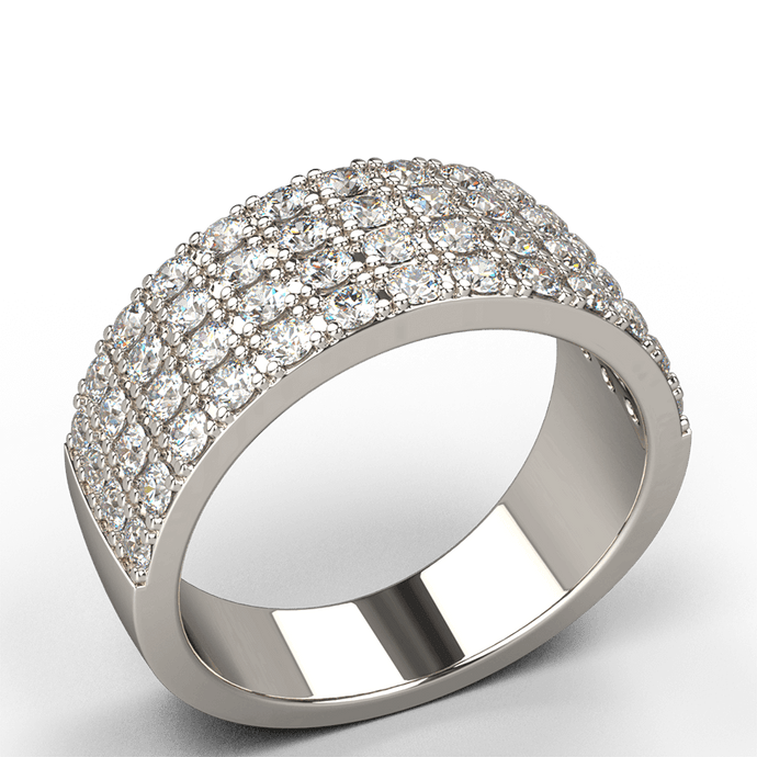 White Gold Diamond Dress Ring - Australian Diamond Network