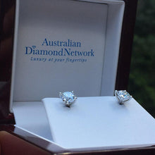 4 Claw Diamond Stud Earrings in 18k White Gold - Australian Diamond Network