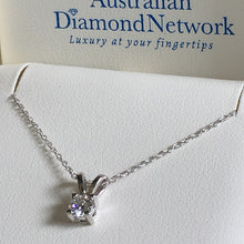 solitaire diamond pendant necklace - Australian Diamond Network