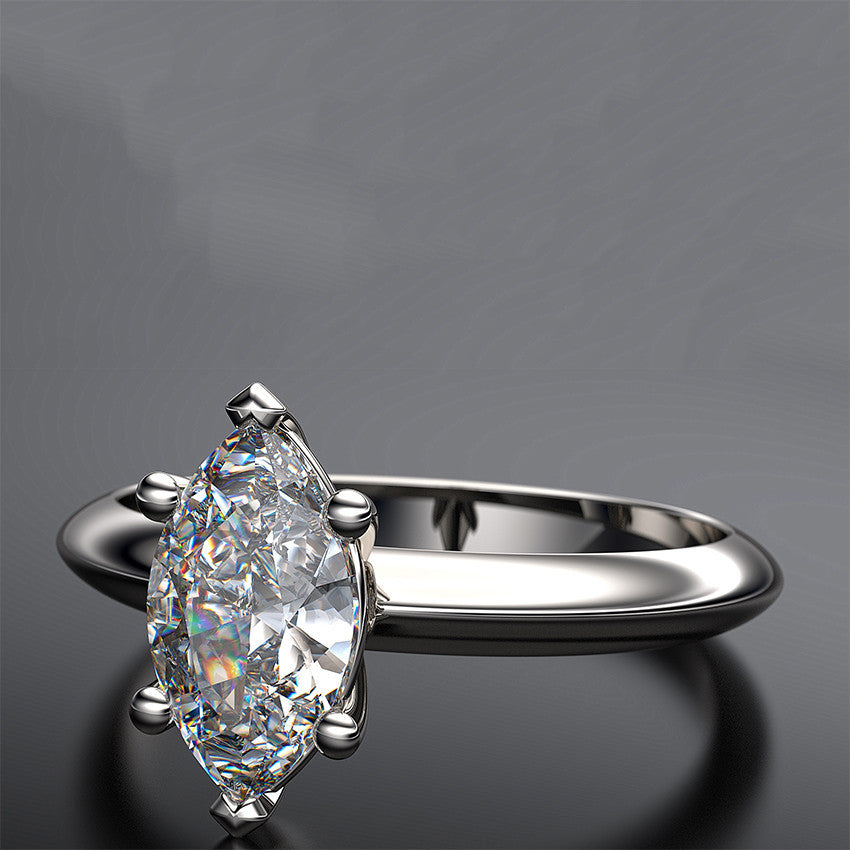 5345f4593d7fc Marquise Diamond Solitaire Engagement Ring