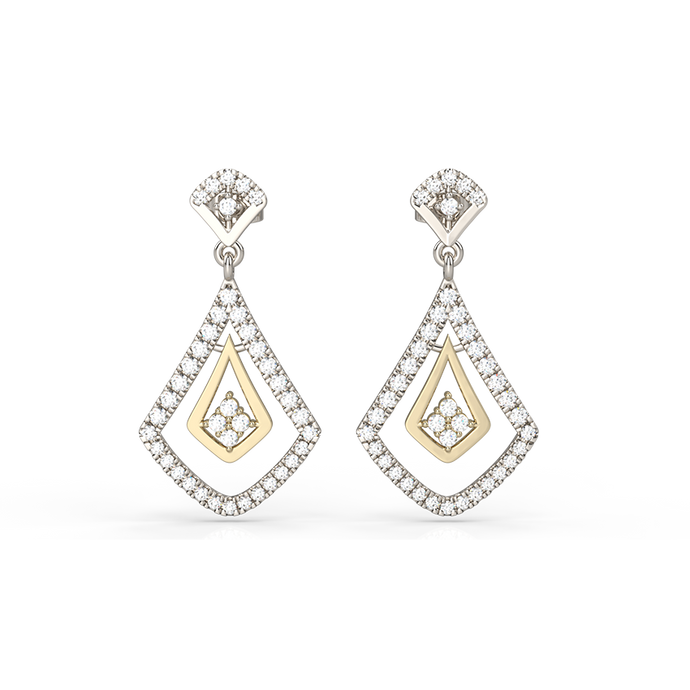 art deco inspired diamond earrings - Australian Diamond Network