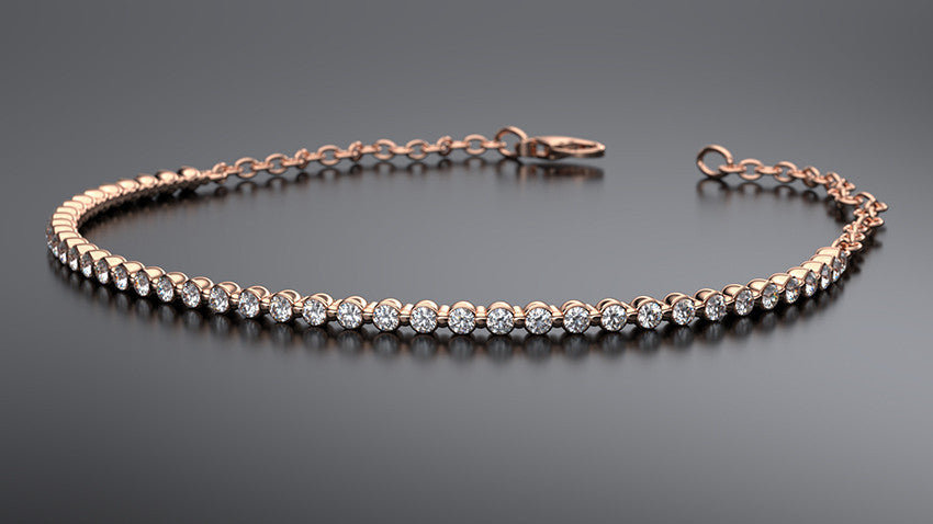 diamond bracelet in rose gold - Australian Diamond Network