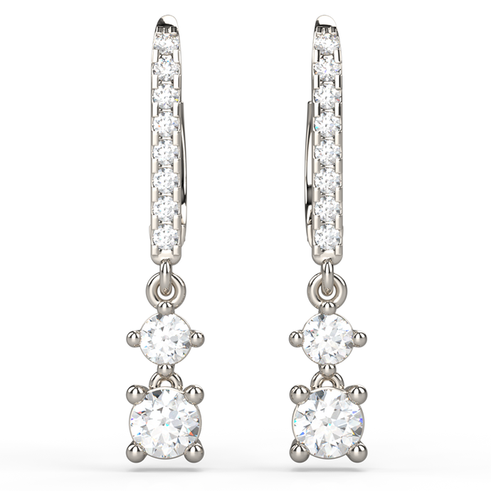 Cascade Diamond Drop Earrings - Australian Diamond Network