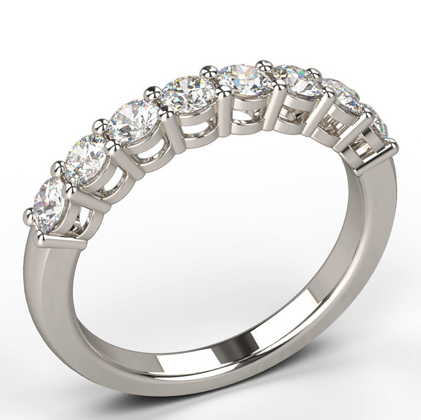 Our Claw Set Diamond Wedding Ring In A Basket Setting Is A Wedding Or Anniversary Diamond Ring Designed To Capture The Intensity Of Romance And Marriage And To Celebrate The Timelessness Of True Love Available In 1 2 Carat 3 4 Carat Or A