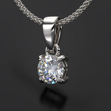 solitaire diamond pendant - Australian Diamond Network