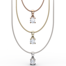 Solitaire diamond pendant necklaces - Australian Diamond Network