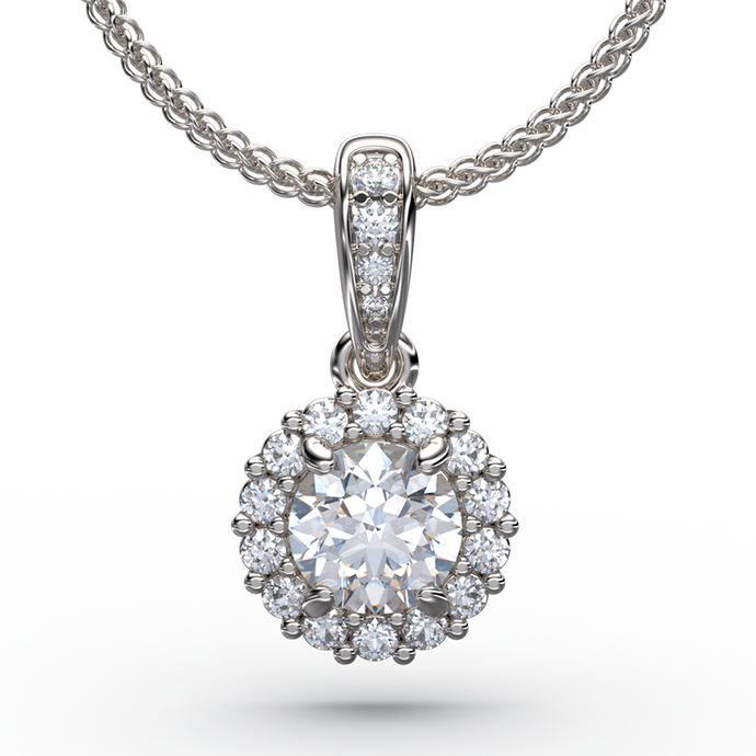 Solitaire diamond pendant necklaces australian diamond network diamond solitaire pendant necklace with halo and gold chain aloadofball Images