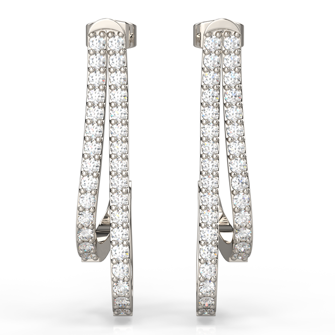 Double-Strand Diamond Earrings - Australian Diamond Network