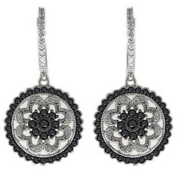 White and black diamond earrings - Australian Diamond Network