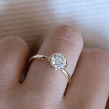 Full Bezel Solitaire Diamond Engagement Ring