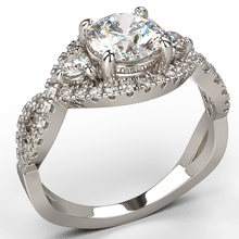 Infini diamond engagement ring 18k white gold - Australian Diamond Network