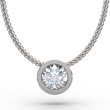 Modern Round Brilliant Diamond Solitaire Sliding Pendant - Australian Diamond Network
