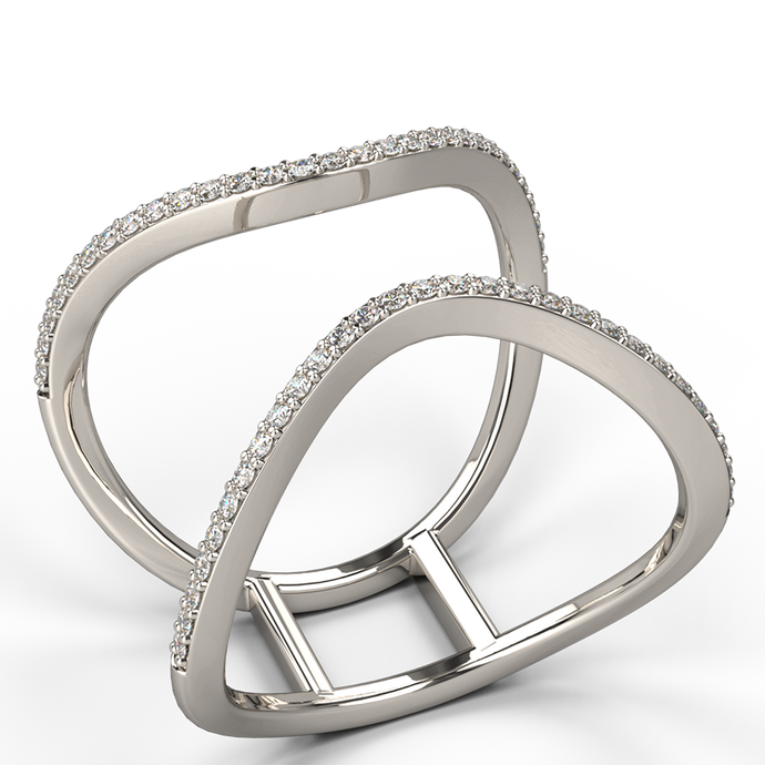 parallelism diamond dress ring