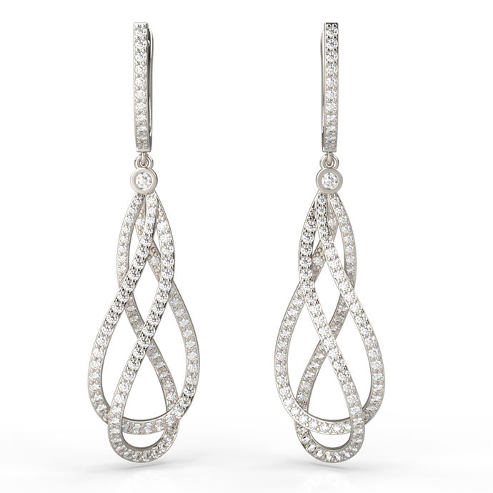Prestige Intertwined Diamond Earrings - Australian Diamond Network
