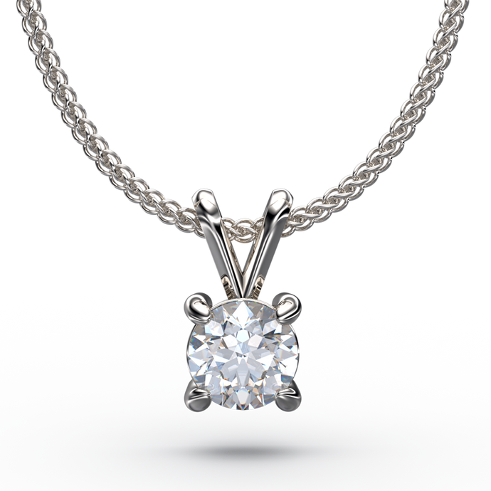4 CLAW SOLITAIRE DIAMOND PENDANT WITH Y BAIL - Australian Diamond Network