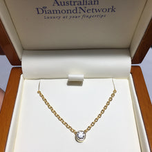 yellow gold diamond pendant from Australian Diamond Network