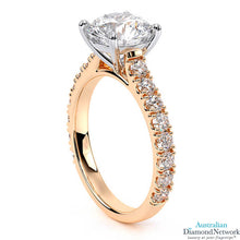 Round Brilliant Cut Diamond Engagement Ring in rose gold – Australian Diamond Network