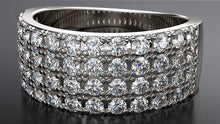 1 Carat Multi-Row Pave Diamond Dress Ring - Australian Diamond Network