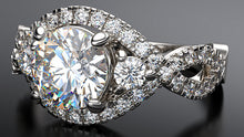 platinum Infini diamond engagement ring - Australian Diamond Network