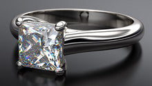 platinum princess cut solitaire diamond engagement ring - Australian Diamond Network
