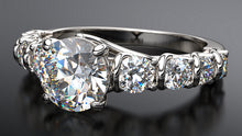 crossover diamond engagement ring in platinum - Australian Diamond Network