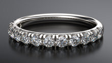 platinum diamond wedding ring round brilliant - Australian Diamond Network