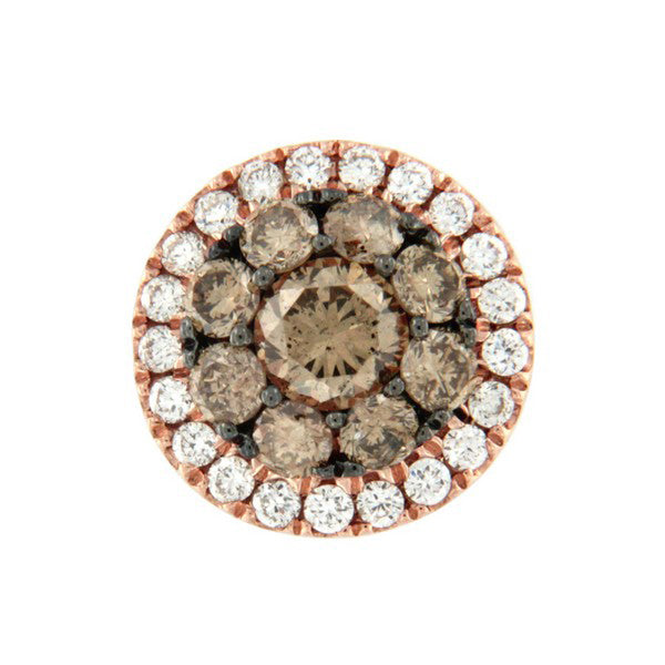 champagne and white diamond pendant in rose gold from Australian Diamond Network