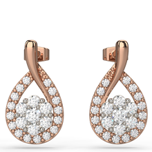 tear drop diamond earrings in 9kt or 18kt gold - Australian Diamond Network