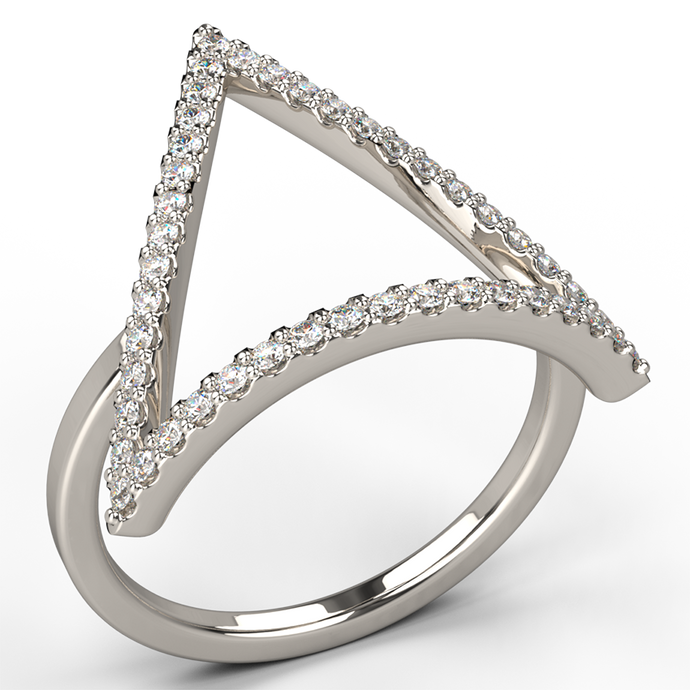 triad diamond dress ring