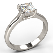 cross claw princess cut solitaire diamond engagement ring - Australian Diamond Network