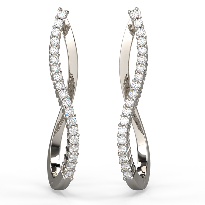 Elegantly Curved Diamond Fascination Earrings - Australian Diamond Network