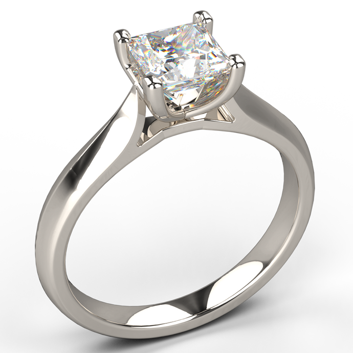 embrace 4 claw diamond solitaire engagement ring