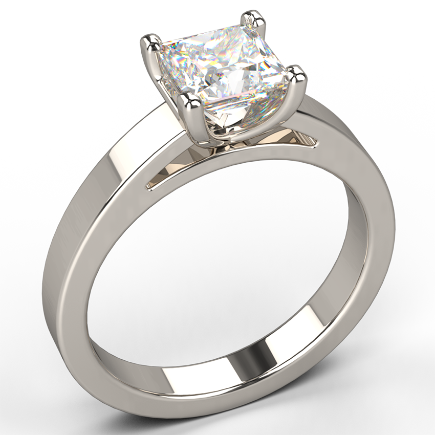 cathedral solitaire valeria setting flat in ring diamond platinum rings engagement