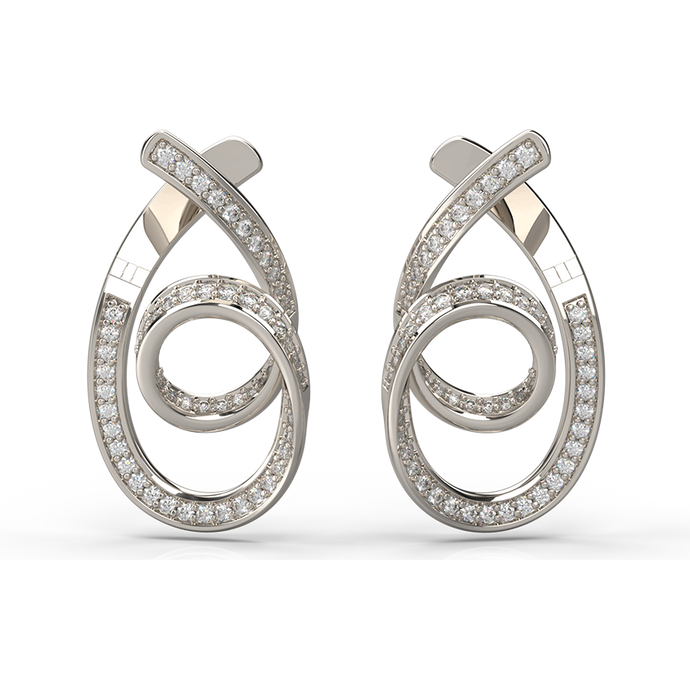 Golden Spiral Diamond Earrings - Australian Diamond Network