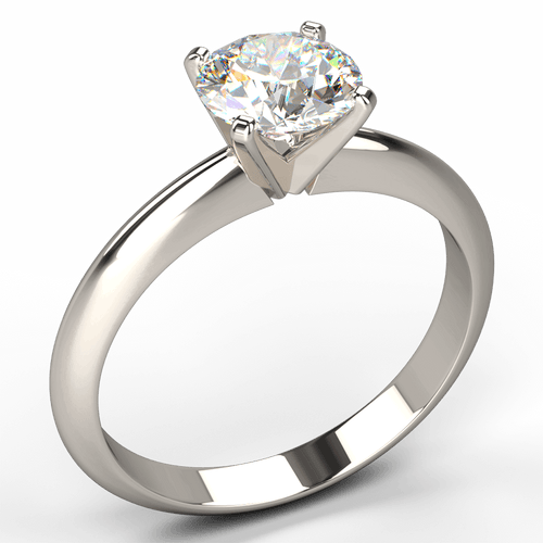 Simply Elegant - V Claw Solitaire Diamond Engagement Ring - Australian Diamond Network