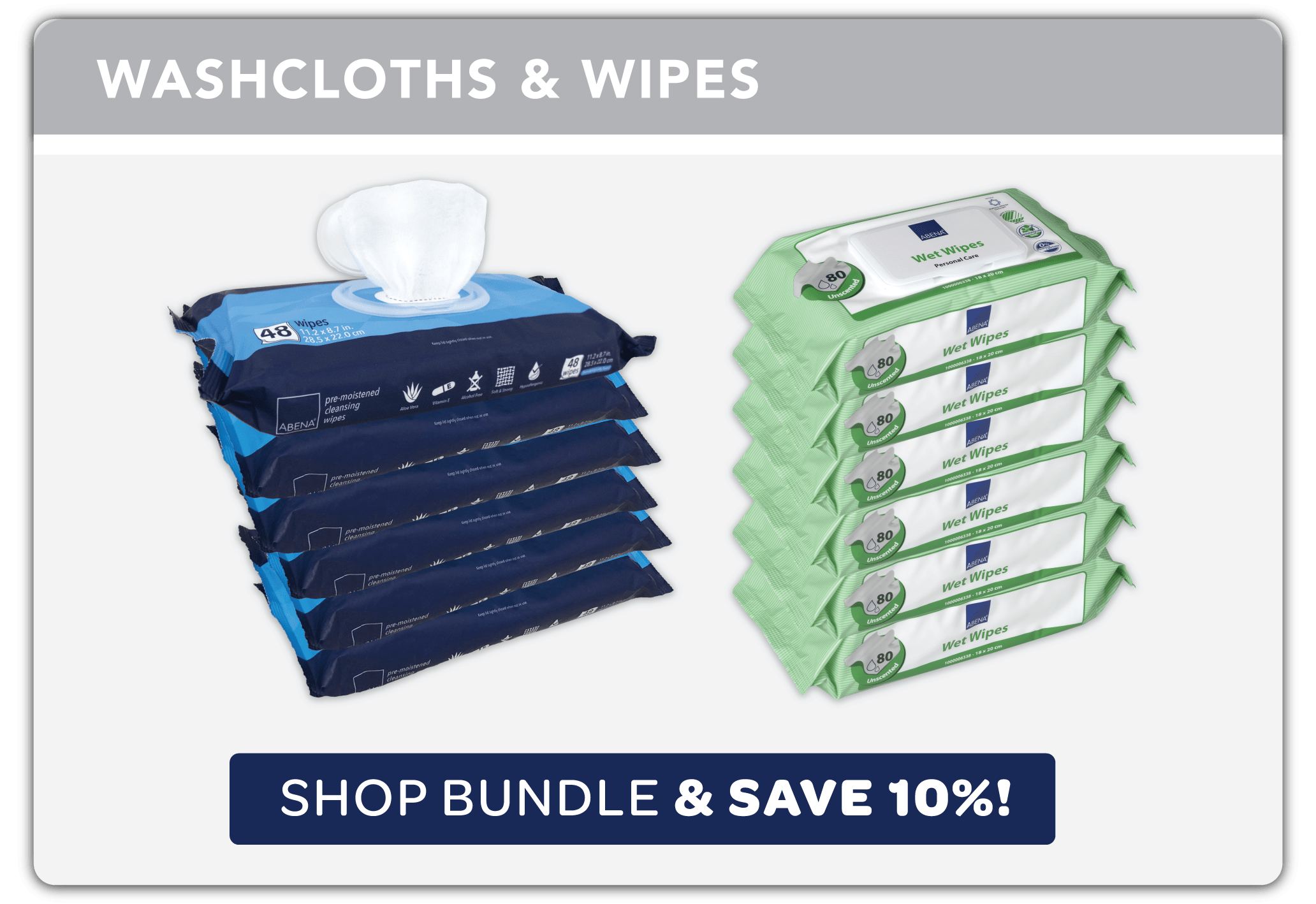 Washcloths with Wipes