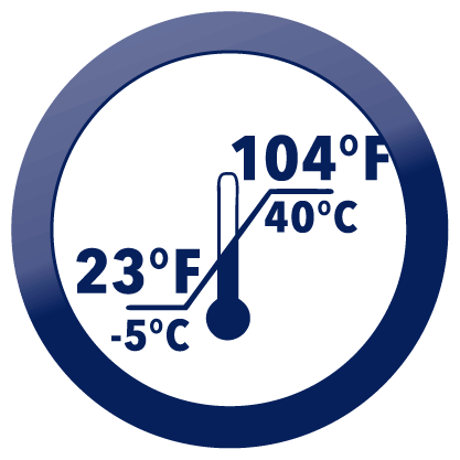 Temperature Limitation 104F