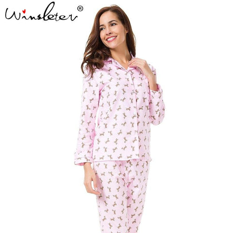 Winter Dachshund Pajama Set