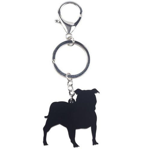Boston Terrier Acrylic Keychain