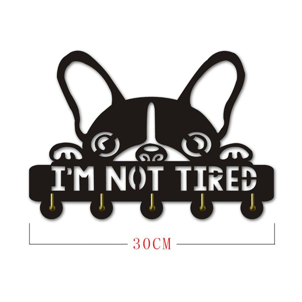 Boston Terrier I'm Not Tired Wall Hooks